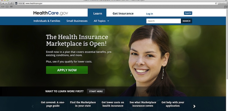 This photo provided by HHS shows the main landing web page for HealthCare.gov. After emergency repairs over the weekend, consumers in different parts of the country Monday continued to report delays on healthcare.gov, as well as problems setting up security questions for their accounts. The administration says the site's crowded electronic