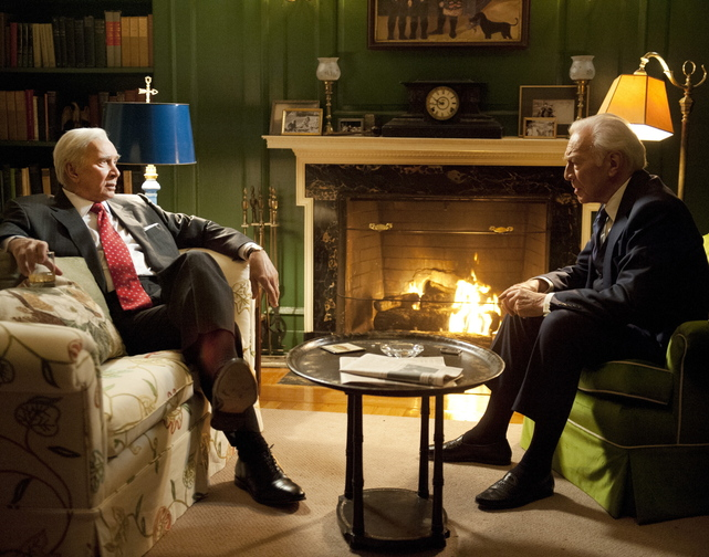 "Frank Langella, left, and Christopher Plummer in ""Muhammad Ali's Greatest Fight,"" directed by Stephen Frears. The HBO drama is about the Supreme Court decision on the boxer's conscientious objector status."