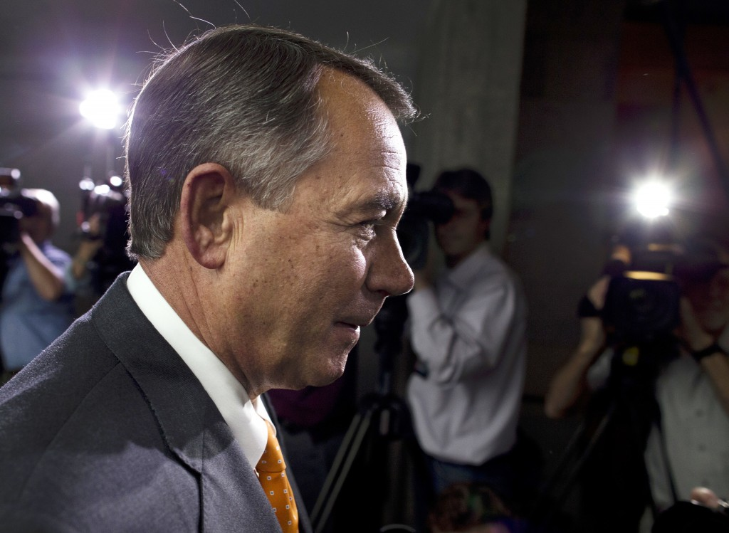 "Speaker of the House John Boehner, R-Ohio, said Wednesday that ""we fought the good fight. We just didn't win."""