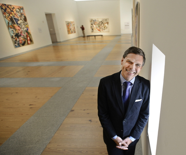 Mark Bessire, director of the Portland Museum of Art, says he knew he wanted to live in Maine after his first visit here.