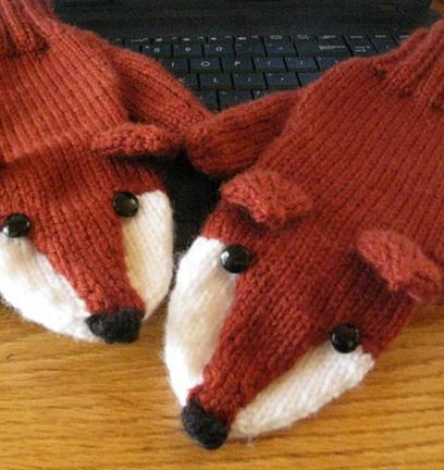 Fox Mittens from Triangle Farm