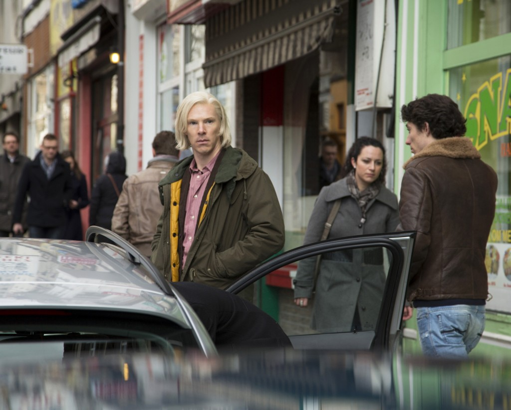 "Benedict Cumberbatch as WikiLeaks founder Julian Assange in ""The Fifth Estate."""