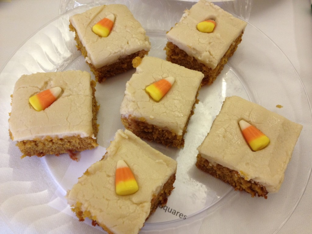 Ki Leffler's Orange-Pumpkin Cake Squares with Browned Butter Frosting took fourth place in the museum contest.