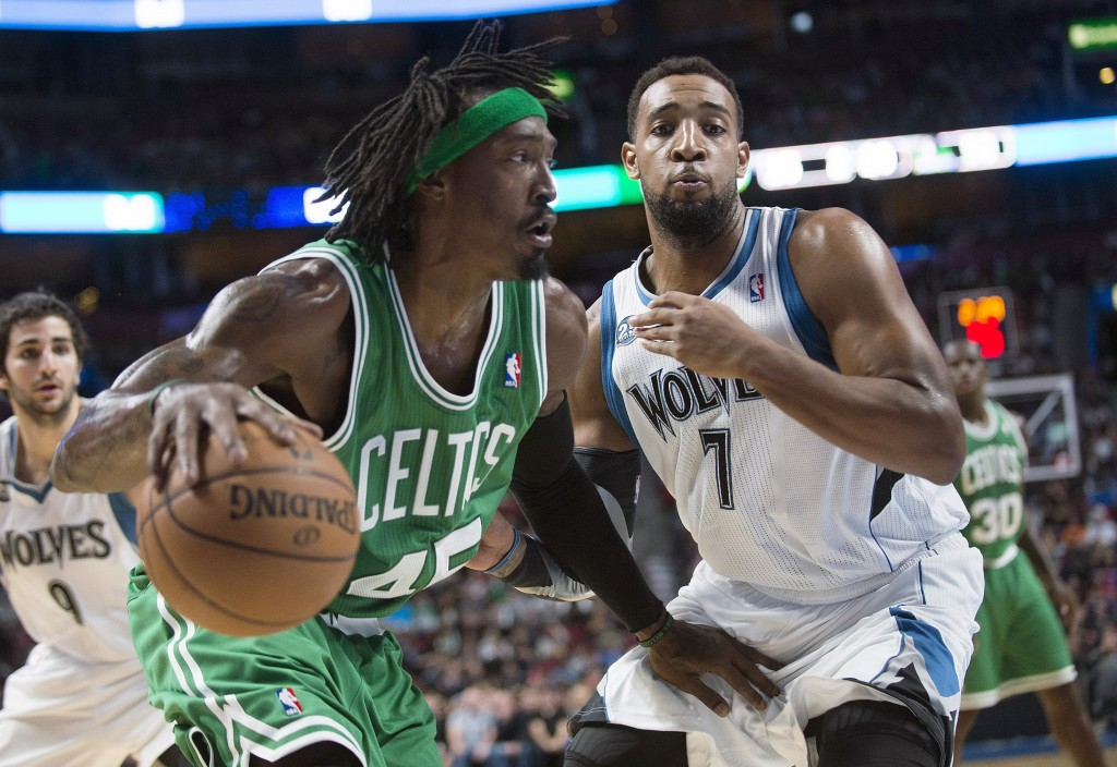 Gerald Wallace, left, is one of the seven holdovers from last year's team, which made it to the playoffs, but was knocked out in the first round. This year might be rough, but the Celtics have nine first-round picks in the next five years.