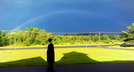 2013 Morning Sentinel File Photo/Michael G. Seamans A student stands in the shadow of Moody Chapel as a rainbow shines over Hinkley before the Maine Academy of Natural Sciences at Good Will-Hinkley inaugural commencement event in August.