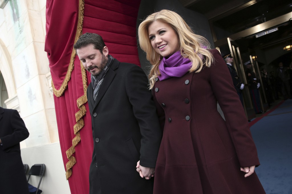 Singer Kelly Clarkson and Brandon Blackstock are shown in January in Washington. They wed Sunday.