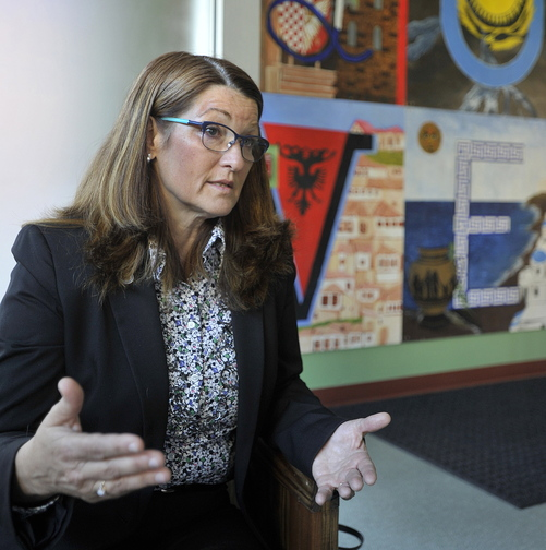 """Barbara Poppe, executive director of the U.S. Interagency Council on Homelessness, at Portland's Kreisler Teen Shelter, says Portland has """"a serious situation"""" with homelessness."""