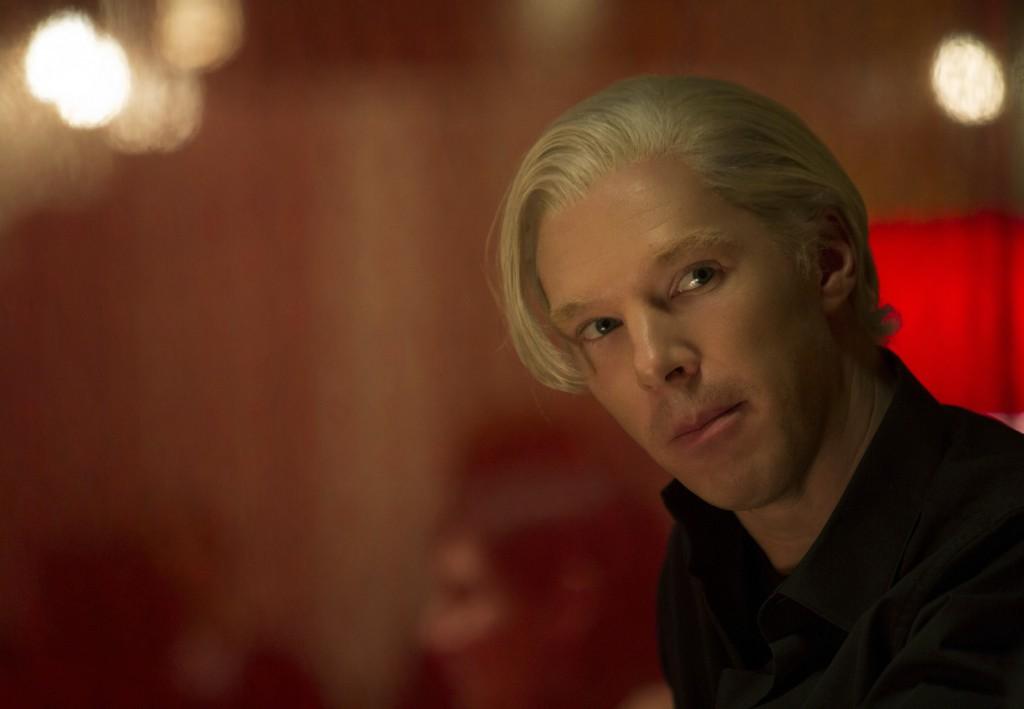 "Benedict Cumberbatch as WikiLeaks founder Julian Assange in a scene from ""The Fifth Estate."""