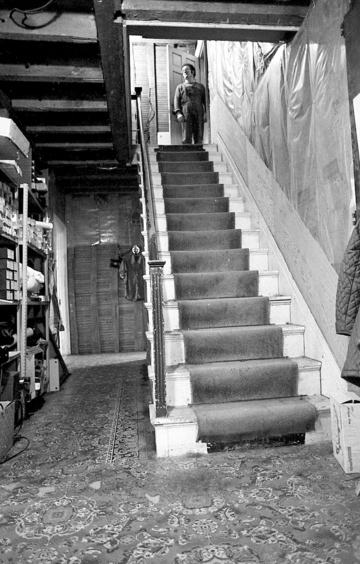 Throughout the 1960s and '70s, the Linnell children said they heard ghostly footsteps going up and down the stairs and, at least once, saw a shadowy figure at the top of the stairs. Today, current resident Marty Golias said two of her cats have acted as if they were greeting a person on the stairs, though Golias could see nothing.