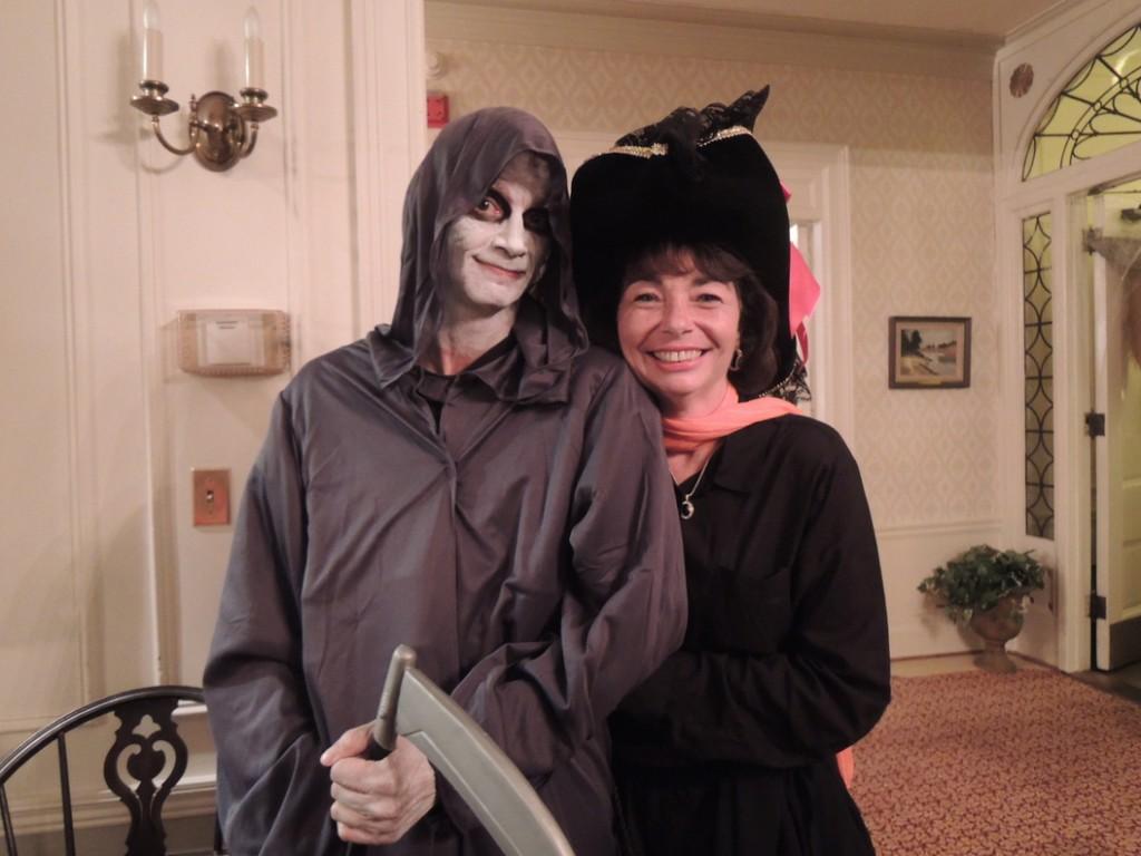 Raising hell again, childhood friends Dana Brimecombe of South Portland and Linda Bridges of Portland.