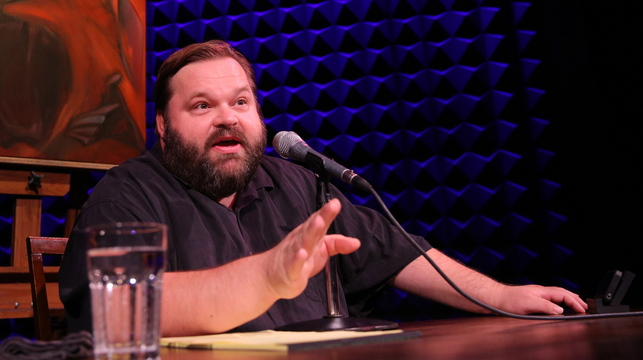 """Storyteller Mike Daisey performs his """"All the Faces of the Moon,"""" a two-hour monologue, at The Public Theater in New York. Daisey embellished facts in a January 2012 broadcast of National Public Radio's """"This American Life."""" Apologizing, he told the show's host: """"It's not journalism. It's theater."""""""