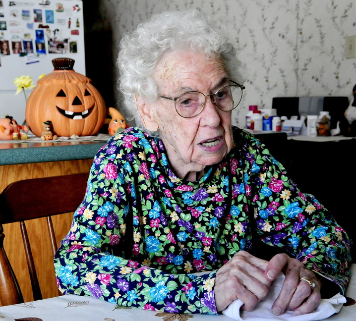 Born on Halloween 100 years ago, Leola Roberts can still be the bewitching presence she was while delighting – and scaring – generations of children as Eldora the witch.