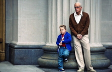 "Johnny Knoxville, with Jackson Nicoll, stars in ""Jackass Presents: Bad Grandpa."""