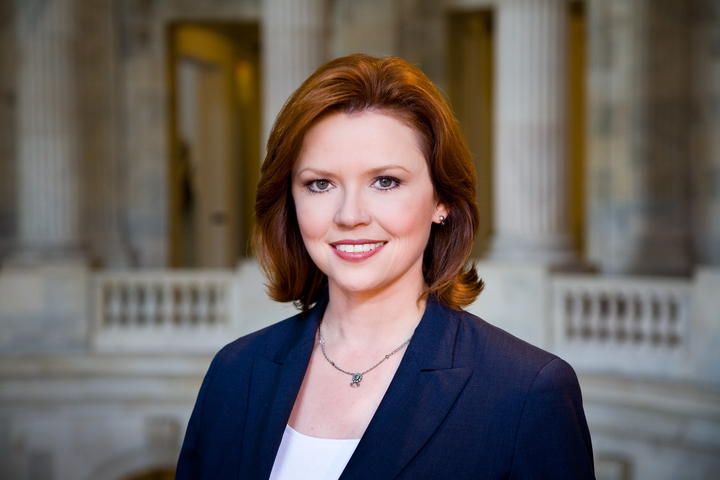 This photo provided by NBC News shows NBC News Capitol Hill Correspondent Kelly O'Donnell at the U.S. Capitol, in Washington, D.C. The federal government shutdown damaged the reputations of Washington politicians but proved good business for the cable television news networks and taught some reporters new benefits of virtually instant communications. CNN, Fox News Channel and MSNBC saw their viewership increase during the 16-day partial shutdown, peaking at more than five million Wednesday evening, Oct. 16, 2013, when Congress passed a compromise bill to put the government back online.