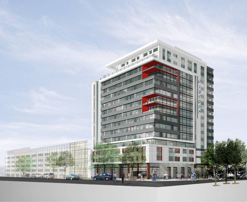 Image by CBT Architects, Boston, Mass. An artist rendering of the first phase of the so-called 'midtown' project proposed for Portland's Bayside.