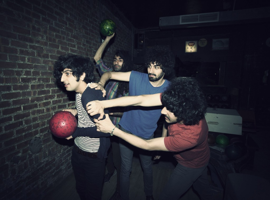 """This 2012 photo shows Yellow Dogs band members, from left, Koroush """"Koory"""" Mirzaei, Siavash Karampour, Arash Farazmand and Soroush Farazmand at The Gutter in Brooklyn, New York. Victims Soroush and Arash Farazmand were brothers. The third victim was Ali Eskandarian, who also played in the band."""