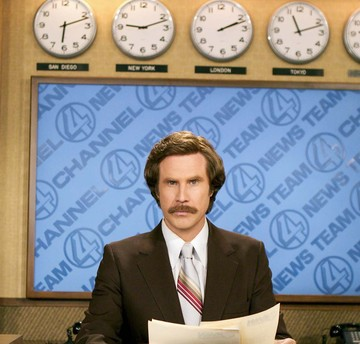 """Will Ferrell, in character as Ron Burgundy, will appear Dec. 4 at Boston's Emerson College, which will change the name of its school of communication for the day and screen the new """"Anchorman"""" movie."""