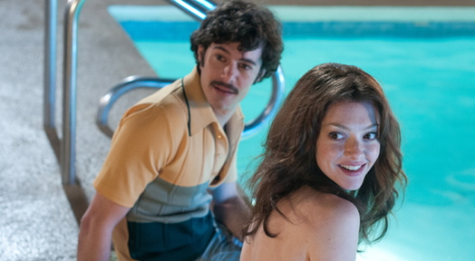 "Adam Brody and Amanda Seyfried star in ""Lovelace."""