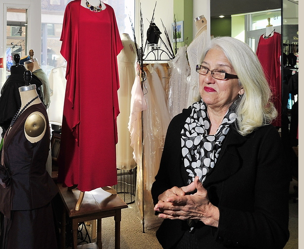 Maria Antonietta, owner of Maria Antonietta Couture on Free Street in Portland, says the made-in-Maine brand is powerful because consumers associate it with quality.