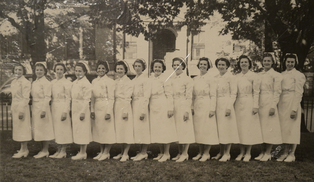 Contributed Photo Pauline Young, a combat nurse in World War II and Korea, is shown with her nursing class in 1936. Young is the fifth from the left.