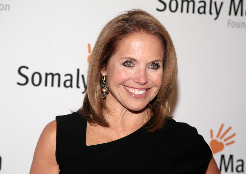 """This Oct. 23, 2013 file photo shows TV host Katie Couric at the Somaly Mam Foundation Gala in New York. Couric is joining Yahoo to anchor a news program for the Internet company as it tries to expand its audience and sell more advertising. An announcement on Monday, Nov. 25, confirms recent published reports that Couric would diversify into online video programming after spending decades in broadcast television as a talk-show host and news anchor. The 56-year-old Couric will continue to host her daytime talk show, """"Katie,"""" on ABC even after she becomes Yahoo's """"global anchor"""" beginning next year."""