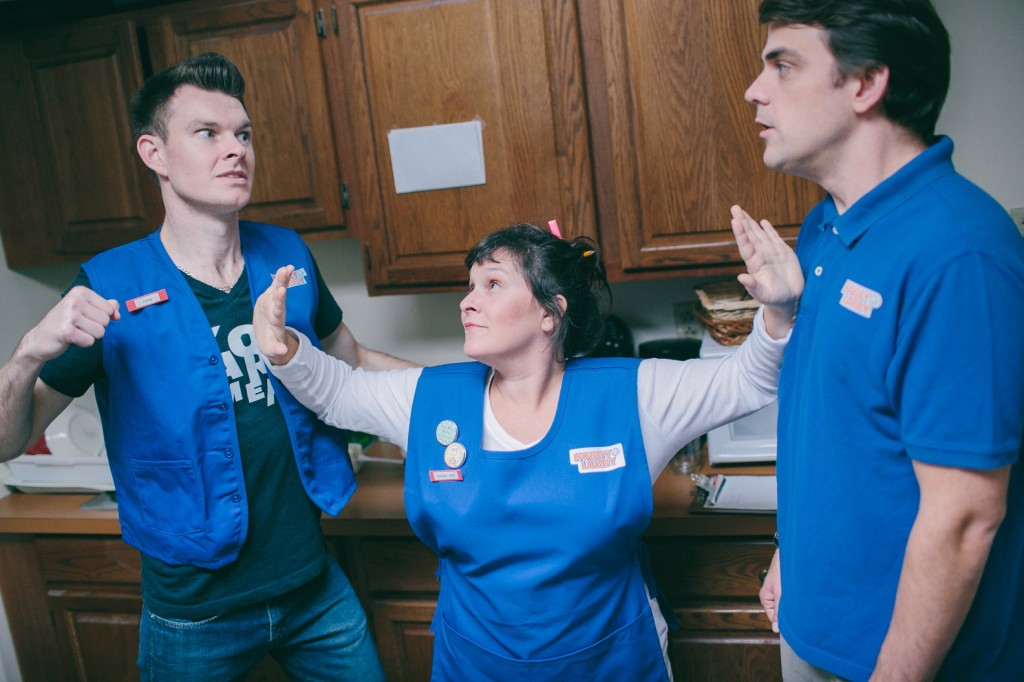 """Erik Moody, Bess Weldon and Rob Cameron in """"A Bright New Boise."""""""