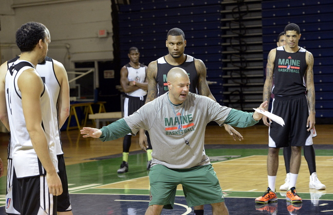 Coach Mike Taylor will lead the Maine Red Claws through an intrasquad scrimmage Sunday at Biddeford High.