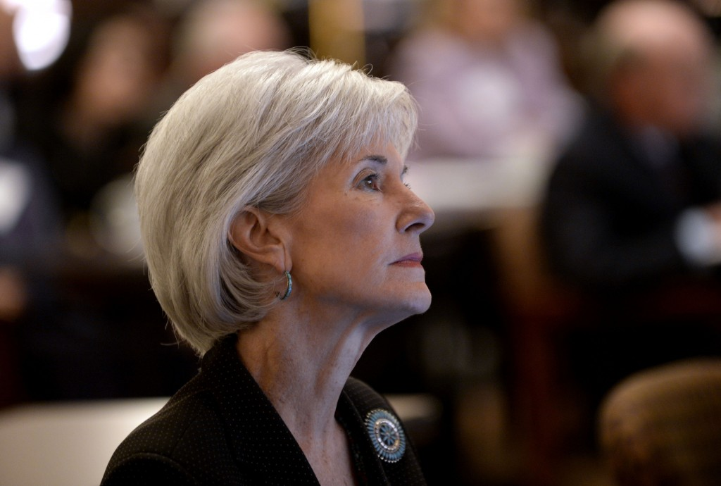 """Department of Health and Human Services Secretary Kathleen Sebelius said of the federal health insurance marketplace: """"We expect enrollment will grow substantially throughout the next five months."""""""