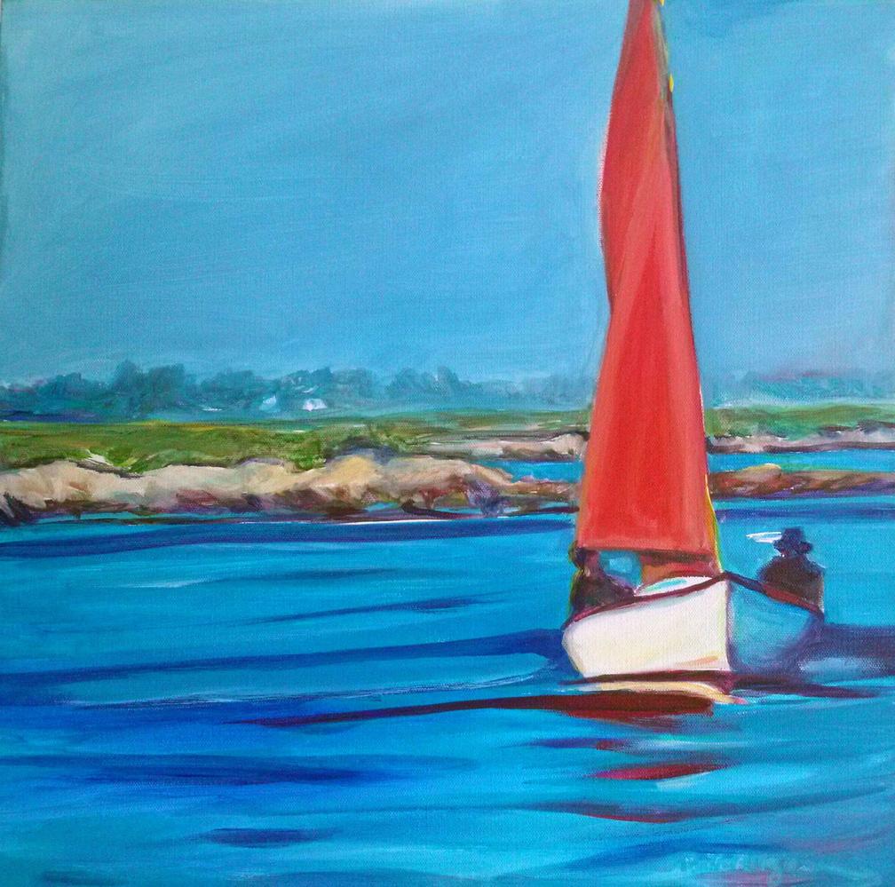"""Casco Bay Red"" by Patricia Rizzo."