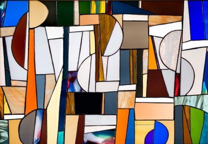 Stained glass by Maya Travaglia.