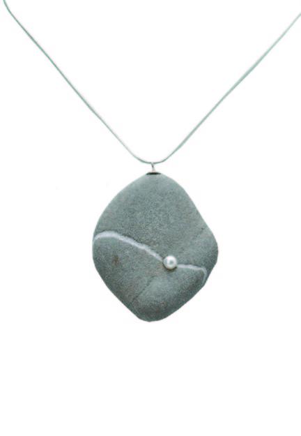 Pearl necklace by Jennifer Swarts.