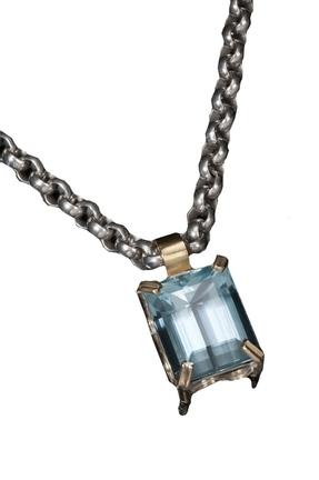Aquamarine necklace by Tina Dinsmore.