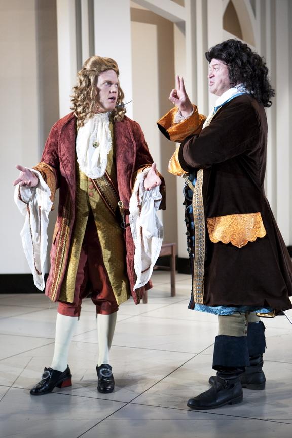 Dustin Tucker, left, with Daniel Noel in Portland Stage's