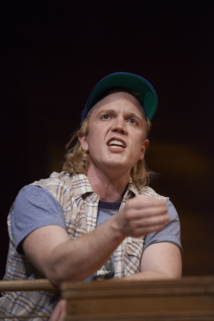 """Dustin Tucker in the Portland Stage production of """"Greater Tuna"""""""