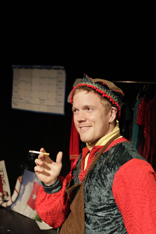 """Dustin Tucker in the Portland Stage production """"The Santaland Diaries"""""""