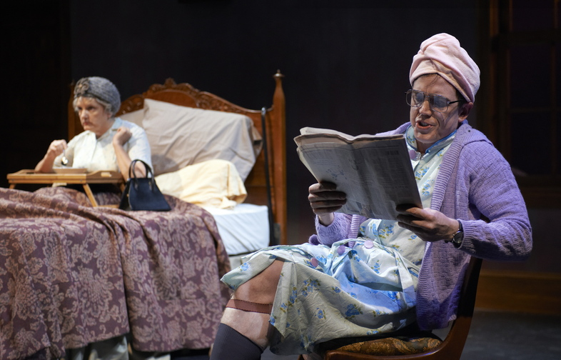 """Dustin Tucker stars in """"Vigil,"""" now playing at Portland Stage Company."""