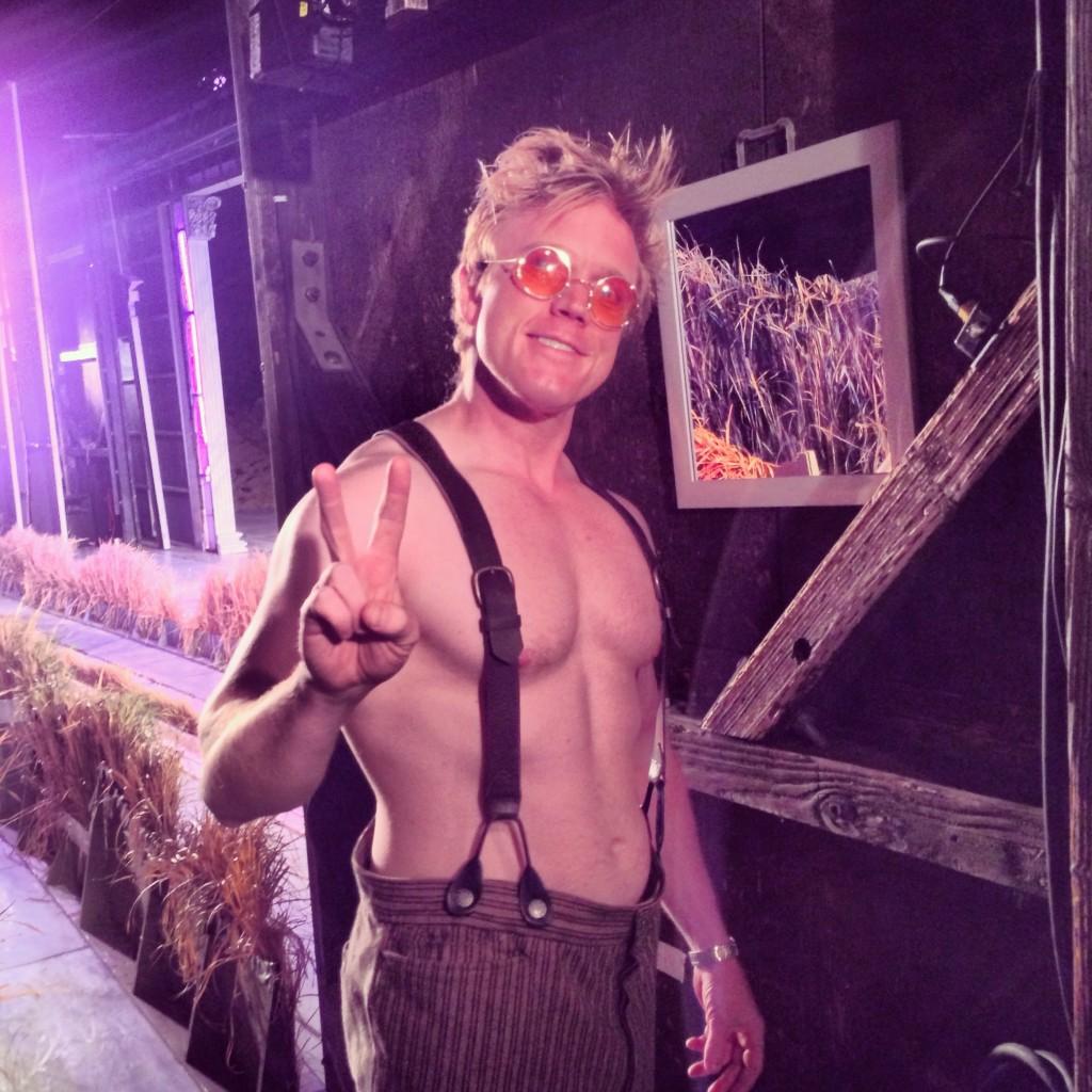 "Dustin Tucker in ""A Midsummer Night's Dream"" last summer at the Tahoe Shakespeare Festival"