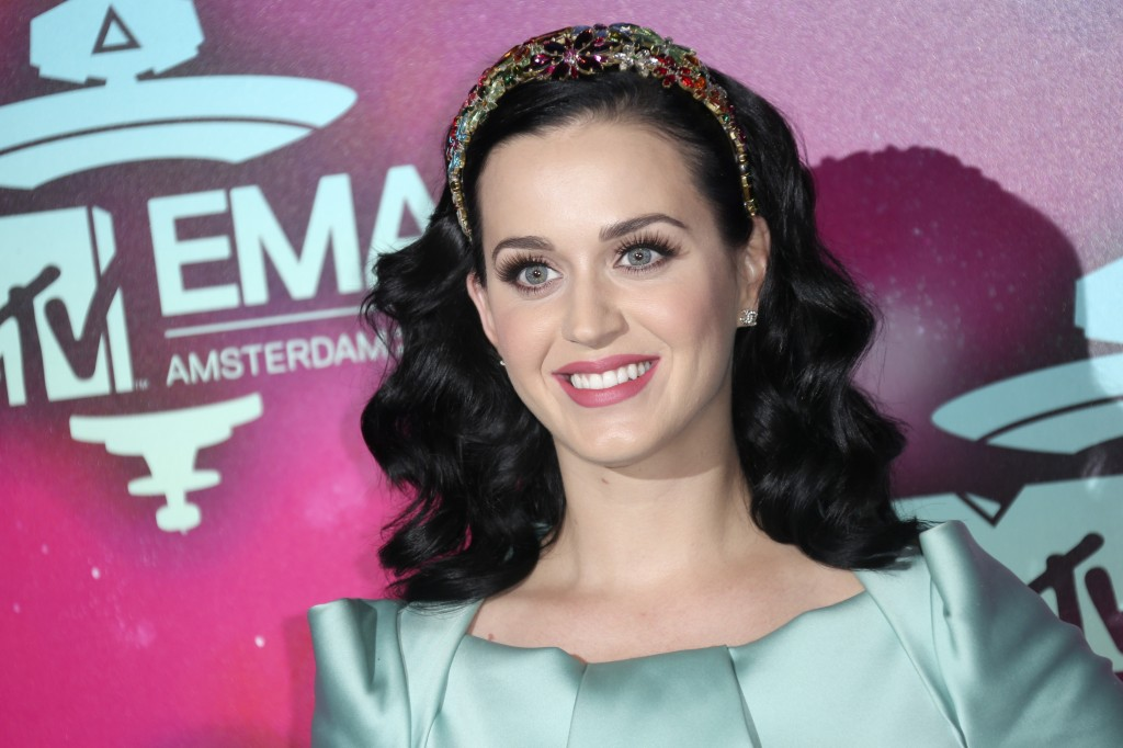 "Singer Katy Perry is shown at the 2013 MTV Europe Music Awards, in Amsterdam, Netherlands, on Sunday. Perry will kick off the Nov. 24 American Music Awards with a performance of her new single, ""Unconditionally."""