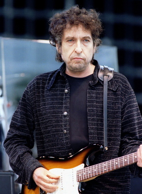 American folk rock legend Bob Dylan performs on stage at the Prince's Trust Masters of Music concert in Hyde Park on June 29, 1995.
