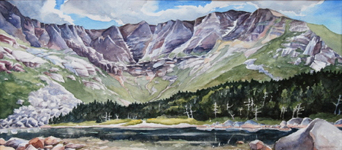 """Chimney Pond"" by Michael Boardman."