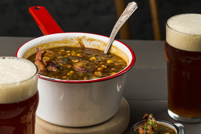 Gritty's Blackened Shrimp and Corn Chowder