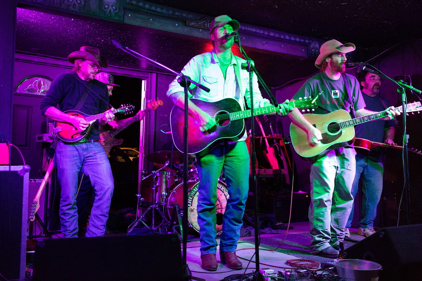 From left, Nate Soule, Nick Leen, Will and Luke Mallett and Wally Wenzel play at The Kraken.