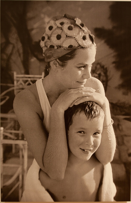 A 1967 photo of Princess Grace and her son, Prince Albert, is among the mementos in the Doylestown exhibit.