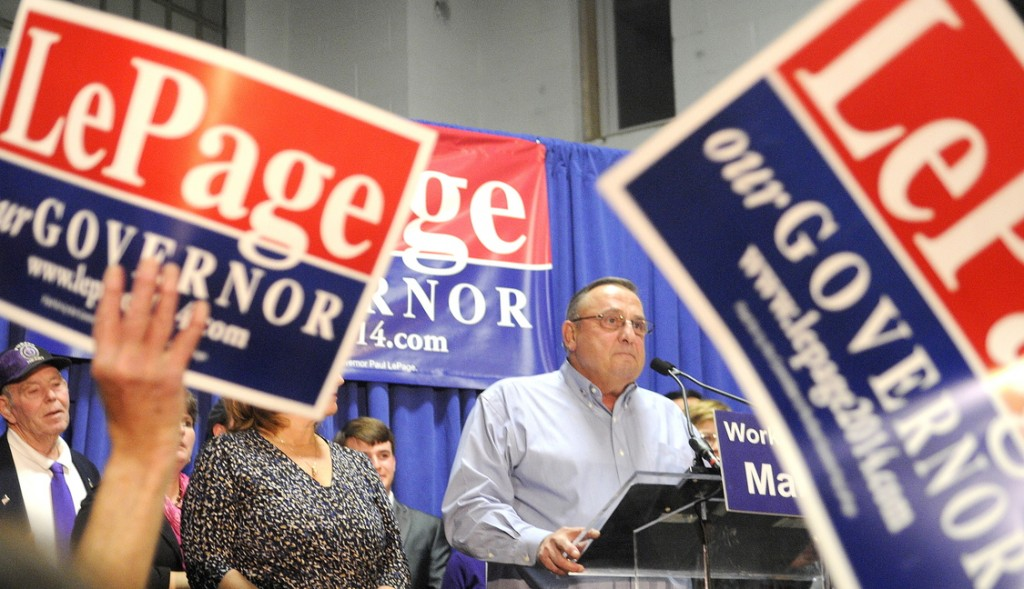 Gov. Paul LePage announced his campaign for re-election this week.