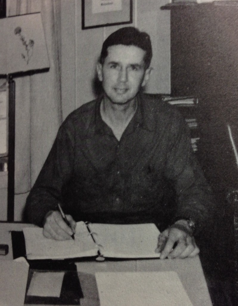 """George B. Richardson is shown in 1960, when he wrote """"The History of Bustin's Island."""""""