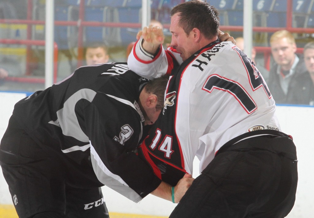Kyle Hagel may be just 6 feet, 205 pounds – small for what's known as a tough guy in pro hockey – but with the Portland Pirates he has a knack for bringing opponents down to size.