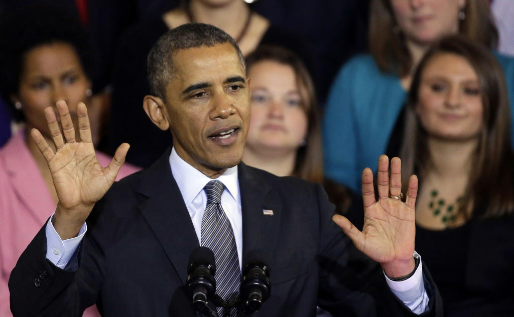 President Obama speaks about the federal health care law at Boston's Faneuil Hall on Oct. 30. He apologized on Thursday for the turmoil millions of consumers are facing.