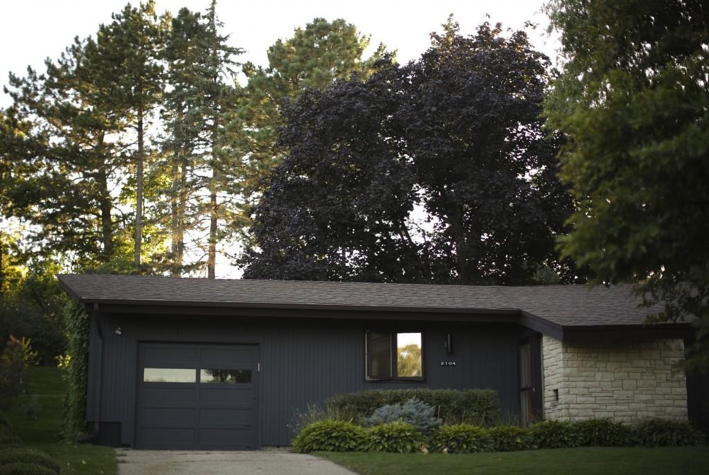 An exterior view of the Charbonneau-Berven ranch home.