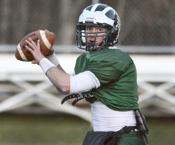 Zach Dubiel was determined to have a successful high school football career at Bonny Eagle – just like Nate Dohler, who led the Scots to back-to-back state championships in 2007-08. Dubiel, a junior, is well on his way.