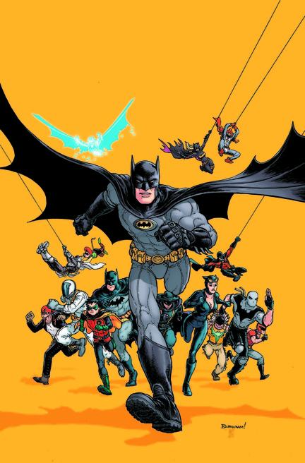 Art from a comic book cover by Batman Inc. artist Chris Burnham, who will be speaking at Comicon